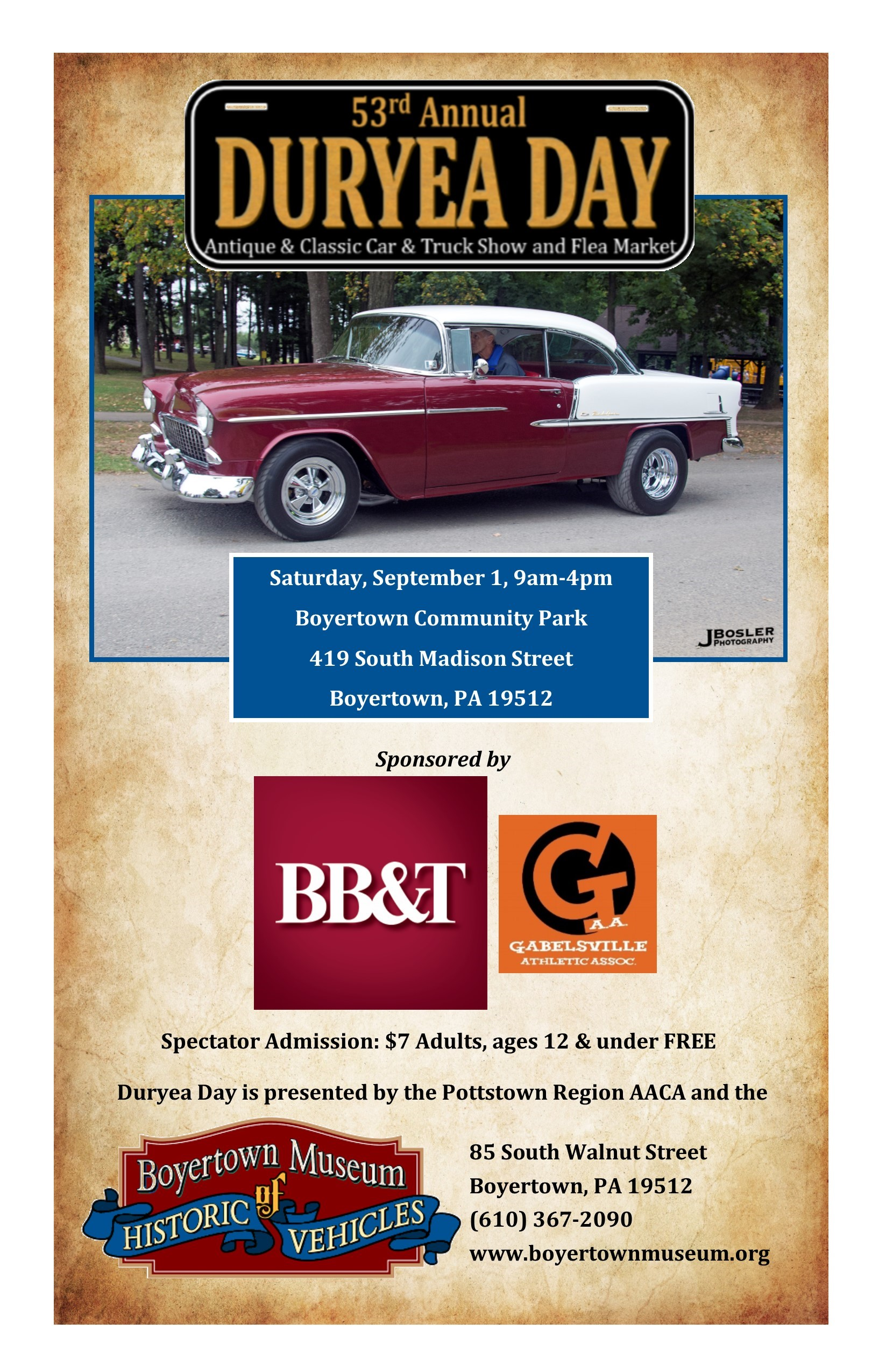 Duryea Day Boyertown Museum Historic Auto Attraction - Antique and classic car show