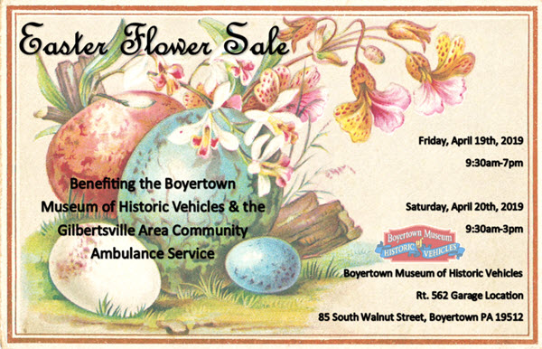Easter flower sale boyertown auto museum