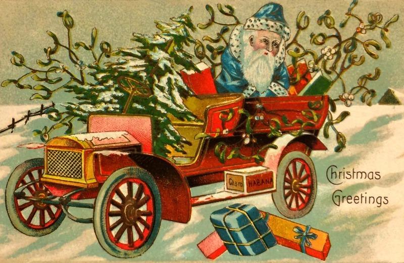 A vintage christmas with santa boyertown auto museum