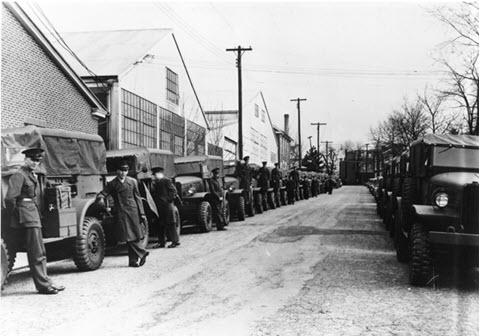 Boyertown WWII worker vehicles